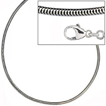925 /-s snakes 1.6 mm rhodium plated silver snake chain 50 cm