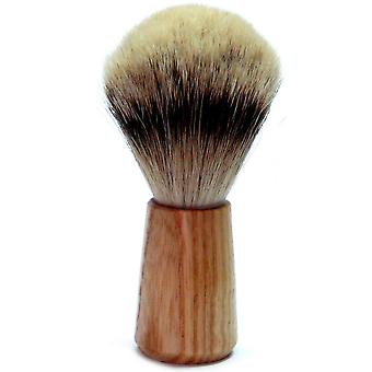 Shaving brushes obtain with Badger silver tip, rubber wooden handle