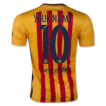 2015-16 Barcelona Away Shirt (Your Name)