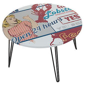 Bigbuy Round centre table with open design