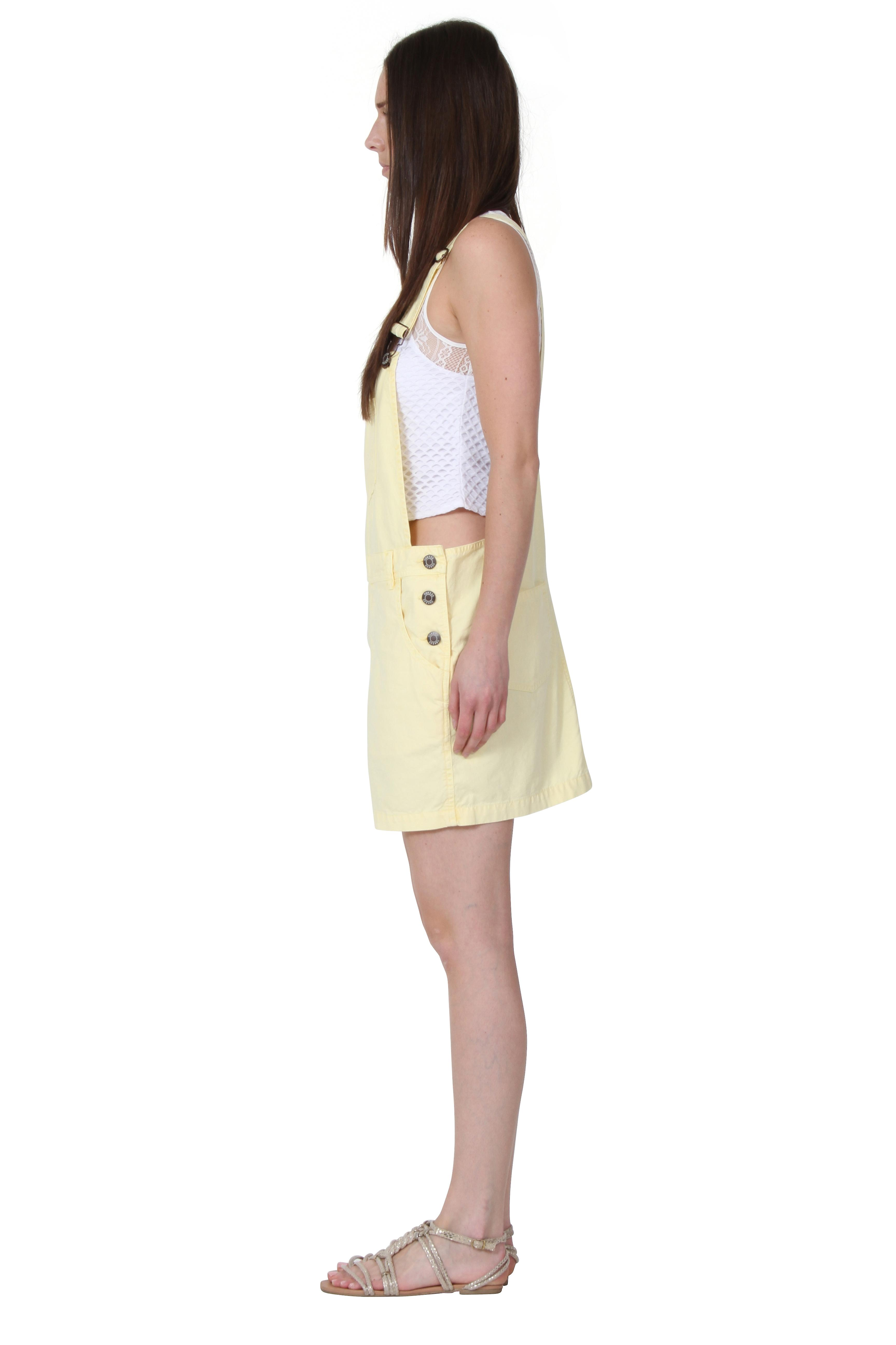 USKEES CLAIRE Short Oversized Dungaree Overall Dress Bib overall skirt relaxed l