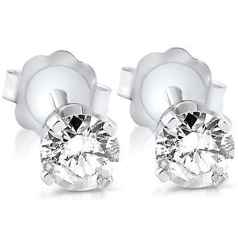 3/8 ct ダイヤモンド スタッド 14 K ホワイトゴールド