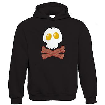 Vectorbomb, Bacon And Eggs Skull And Crossbones Hoodie (S to 5XL)