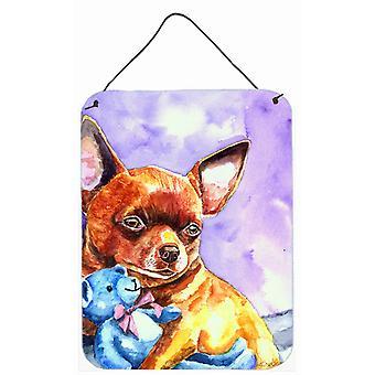 Chihuahua mit Teddybär Wand oder Tür hängen Drucke
