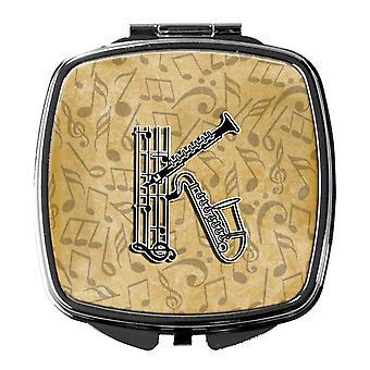 Letter K Musical Instrument Alphabet Compact Mirror
