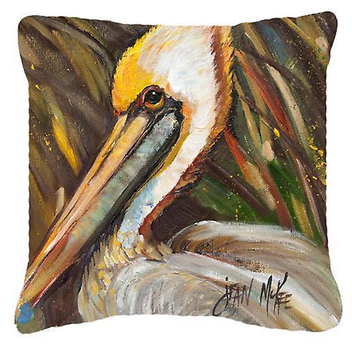 Pélican lookin East toile tissu oreiller décoratif