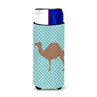 F1 Hybrid Camel Blue Check Michelob Ultra Hugger for slim cans