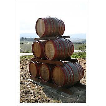 Barilotti di vino Tuscany Poster stampa di Igor Maloratsky (13 x 19)