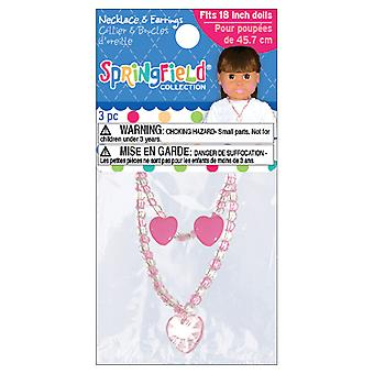 Springfield Collection Jewelry Set Pink Necklace & Earrings Fc3370