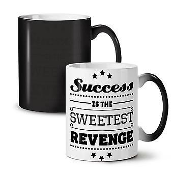 Success Revenge Funny NEW Black Colour Changing Tea Coffee Ceramic Mug 11 oz | Wellcoda