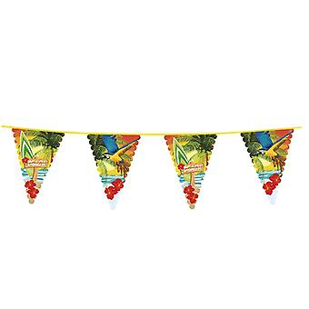 Hawaiian 6m Giant Bunting Beach Party Decoration Accessory/ Supplies