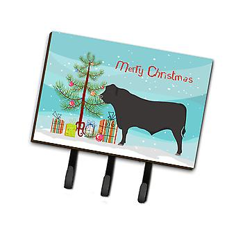 Carolines Treasures  BB9195TH68 Black Angus Cow Christmas Leash or Key Holder