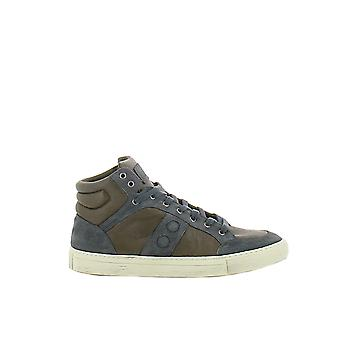 Alexander Smith men 1003R3O blue/brown leather Hi Top sneakers