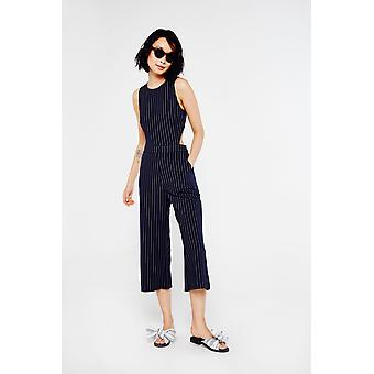 After Market Pinstripe Cropped Leg Jumpsuit