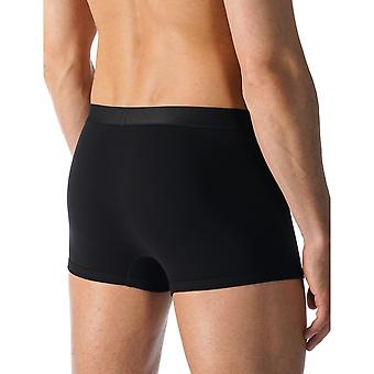 Mey 49128-123 Men's Casual Cotton Black Solid Colour Fitted Boxer