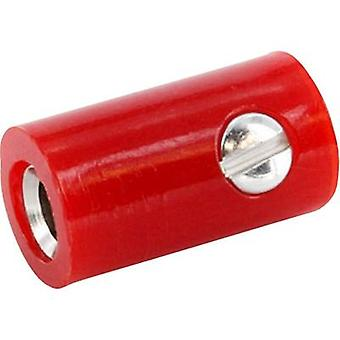 Jack plug Connector, straight Pin diameter: 2.6 mm Signal red ec