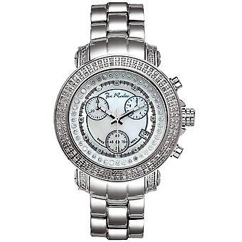 Joe Rodeo diamond men's watch - RIO silver 1.25 ctw