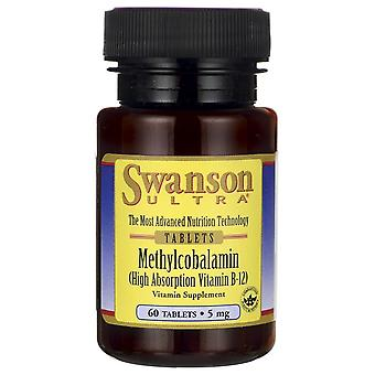 Swanson Methylcobalamin High Absorption Vitamin B-12 5Mg 60 Tablets