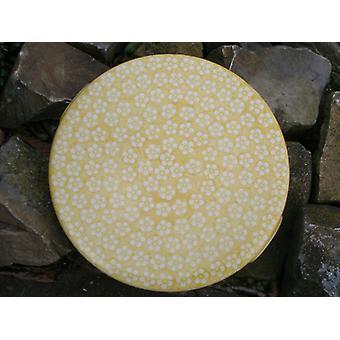 Placa de la torta, 33 x 3 cm, amarillo, Bolesławiec BSN J-979