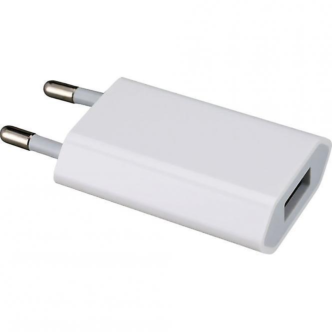 Original Apple  Bulk MD813ZM A1400 USB Mini Lade Adapter 5W, iPhone SE 5S 5C, 2 x Muvit Schutzfolie matt