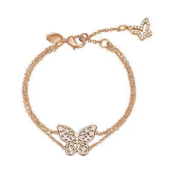 ESPRIT dam armband rostfritt stål Rosé Zirkonia fjäril ESBR01891C160