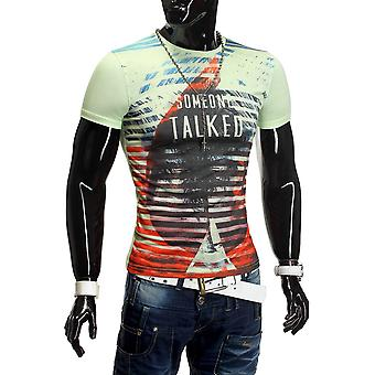 Men Summer T-Shirt Polo Stretch Slim fit Clubwear Shirt Hot Ice