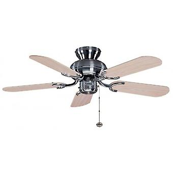 Ceiling Fan Capri Stainless with Pull Cord 91.4 cm / 36