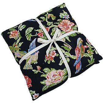 Riva Home Parrot Bird And Flower Themed Seat Pads