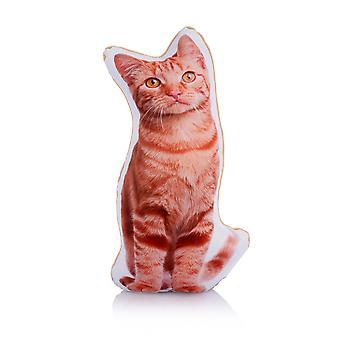 Adorable Ginger Cat Shaped Midi Cushion