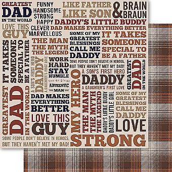 Bella! Family Man Double-Sided Cardstock 12