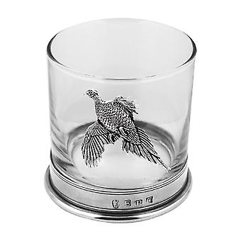 Vaso de cristal Single faisán Whisky del estaño