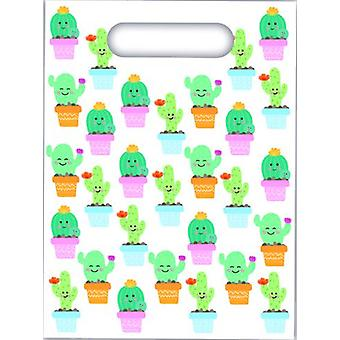 Cactus party bags gift bags 6 piece children birthday theme party