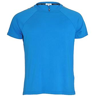 Calvin Klein Core Logo Tape Relaxed Crew Neck T-Shirt , Electric Blue, X-Large