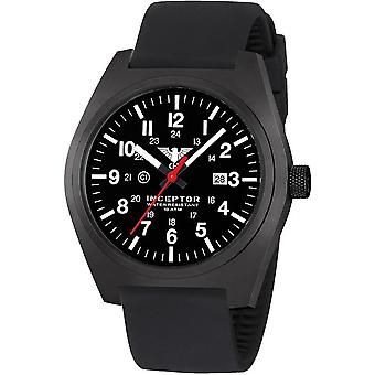 KHS mens watch interceptor black steel KHS. INCBS. SB
