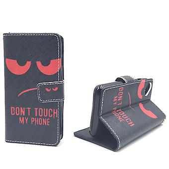 Mobile phone case pouch for mobile WIKO sunny dont touch my phone Red