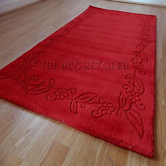 Rugs -Floral Border - Red