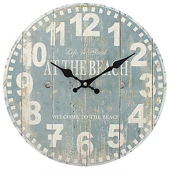 Something Different 34cm Blue Beach Clock