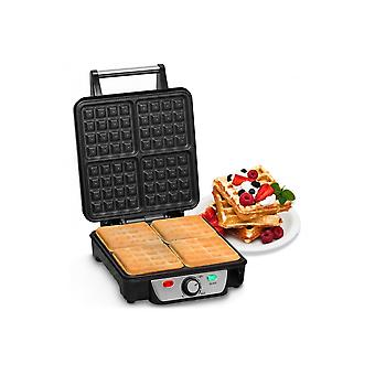 Andrew James 4 Slice belga Waffle Maker con temperatura regolabile