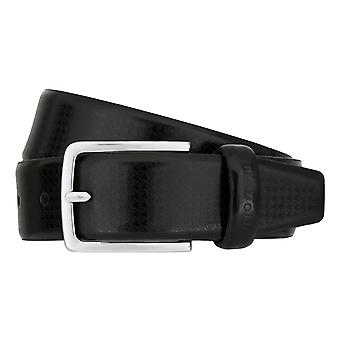 OTTO KERN belts men's belts leather belt black 7486