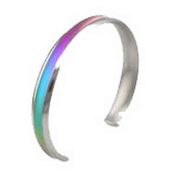 Ti2 titanio 8mm cóncava corte en forma de brazalete de Torc - multicolor