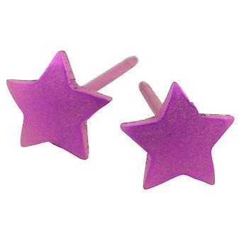 Ti2 titanio geométricas estrellas pendientes - rosa caramelo