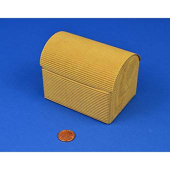 10 Corrugated Brown Recycled Kraft Card Treasure Chests - Medium