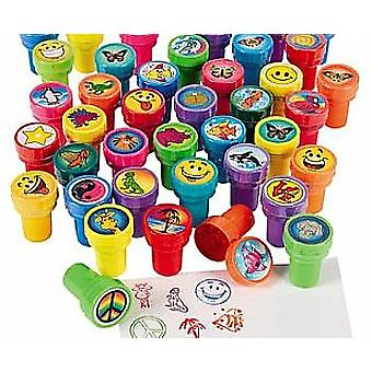 100 Assorted Self Inking Stampers for Kids - Party Bag Fillers   Kids Crafts
