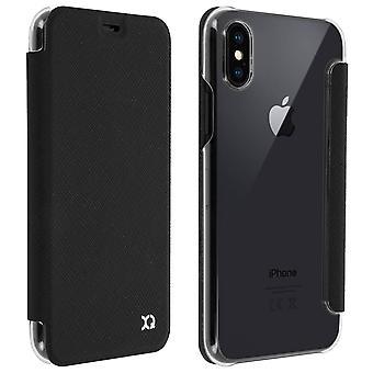 Flip Book cover, Xqisit slim wallet case for Apple iPhone X/XS - Black