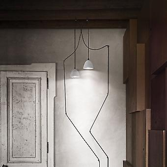 Ideal Lux Oil 4 Plug In Concrete Pendant With 12 Metre Cable