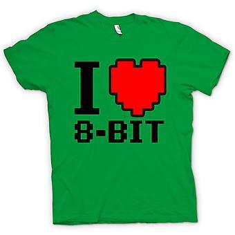 Ik hou van 8 Bit - Retro - Computer T Shirt