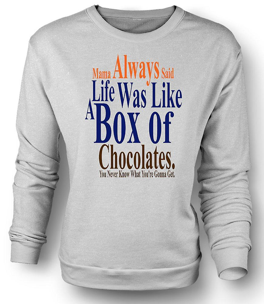 Mens Sweatshirt Forrest Gump Box Chocolates - Funny