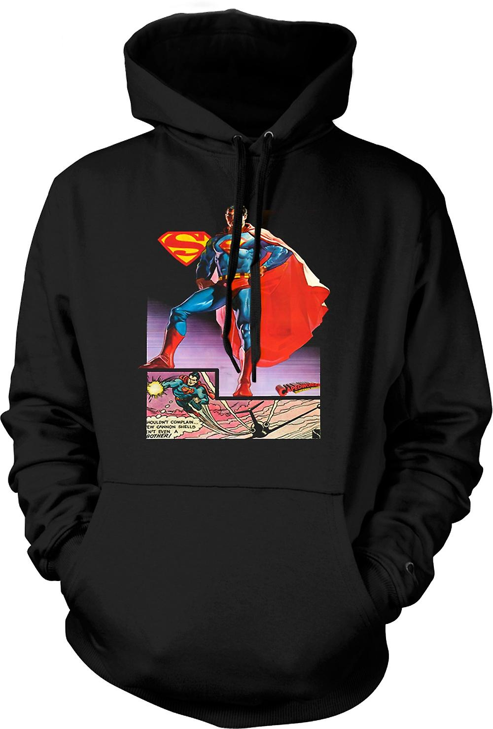 Mens Hoodie - Superman Caped Wonder