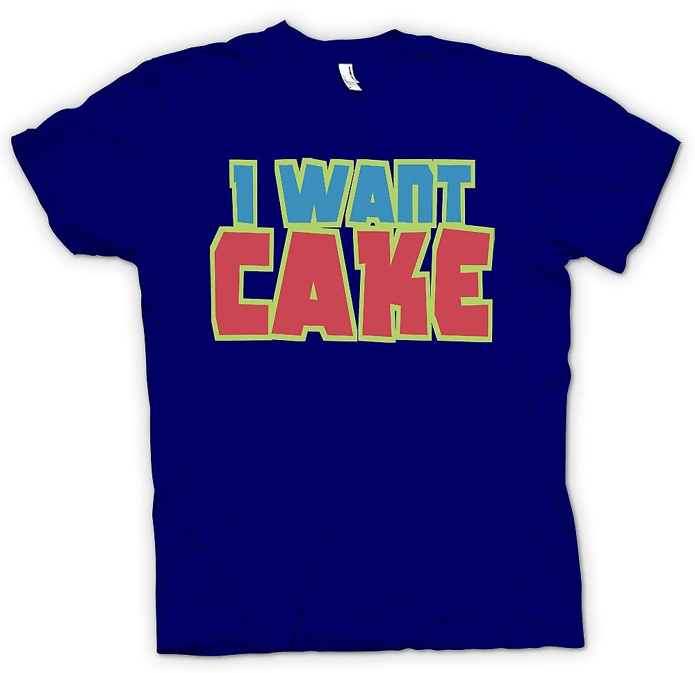 Mens-T-shirt - ich will Kuchen - Cool lustig