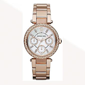 Michael Kors Watches Mk5616 Mini Parker Rose Gold & Mother Pearl Dial Ladies Watch